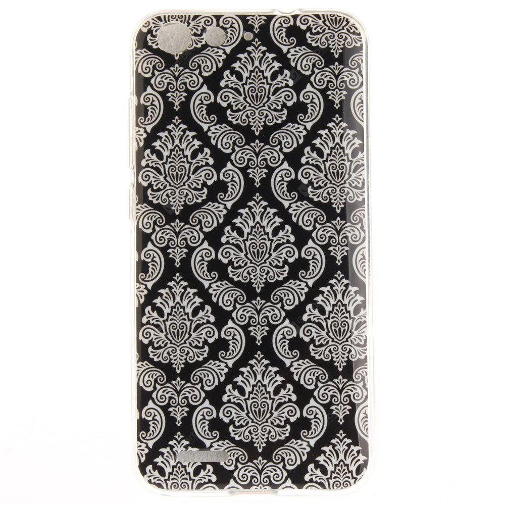 Totem Flowers Soft Clear IMD TPU Phone Casing Mobile Smartphone Cover Shell Case for ZTE Blade X7 Z7 D6 V6