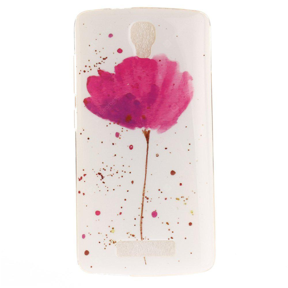 Song For Orchid Soft Clear IMD TPU Phone Casing Mobile Smartphone Cover Shell Case for ZTE Blade L5 Plus