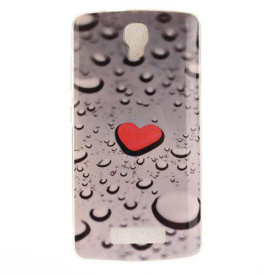 Heart Drop Soft Clear IMD TPU Phone Casing Estojo móvel para capa móvel para ZTE Blade L5 Plus