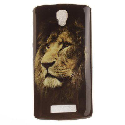 The Lion Pattern Soft Clear Caixa de telefone IMD TPU Tampa de capa móvel Smart Shell para ZTE Blade L5 Plus