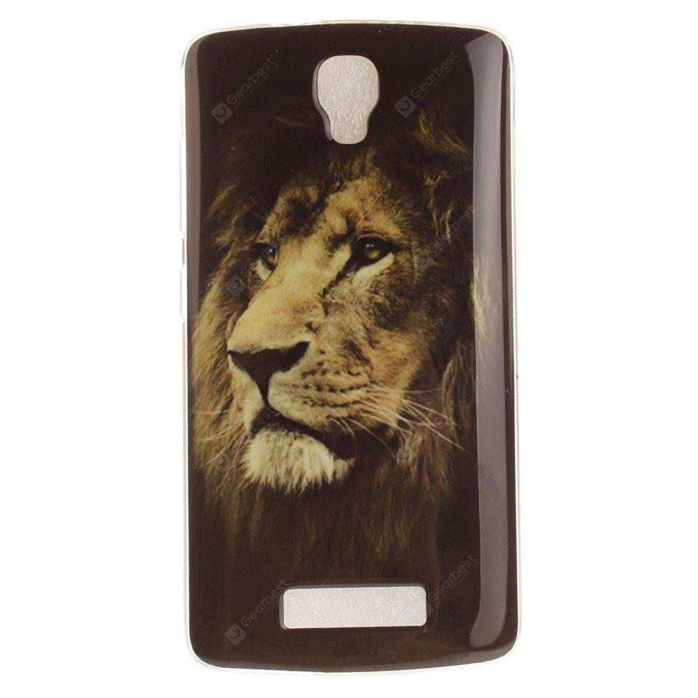 The Lion Pattern Soft Clear IMD TPU Phone Casing Mobile Smartphone Cover Shell Case for ZTE Blade L5 Plus