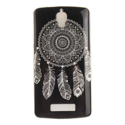 Black Wind Chimes Soft Clear IMD TPU Phone Casing Mobile Smartphone Cover Shell Case for ZTE Blade L5 Plus