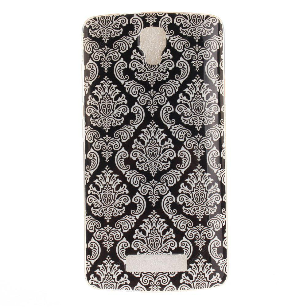 Totem Flowers Soft Clear IMD TPU Phone Casing Mobile Smartphone Cover Shell Case for ZTE Blade L5 Plus