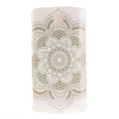 Big White Flower Soft Clear IMD TPU Phone Casing Estojo de capa móvel Smartphone Cover para ZTE Blade L5 Plus