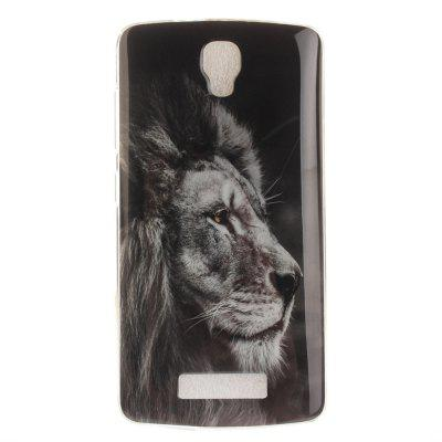 Black Lion Soft Clear IMD TPU Phone Casing Mobile Smartphone Cover Shell Case for ZTE Blade L5 Plus