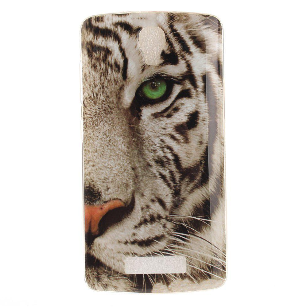Tiger Soft Clear IMD TPU Phone Casing Mobile Smartphone Cover Shell Case for ZTE Blade L5 Plus