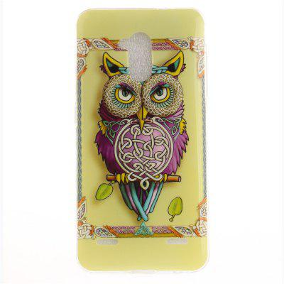 Owl Pattern Soft Clear IMD TPU Phone Casing Mobile Smartphone Cover Shell Case for ZTE Blade V7 Lite
