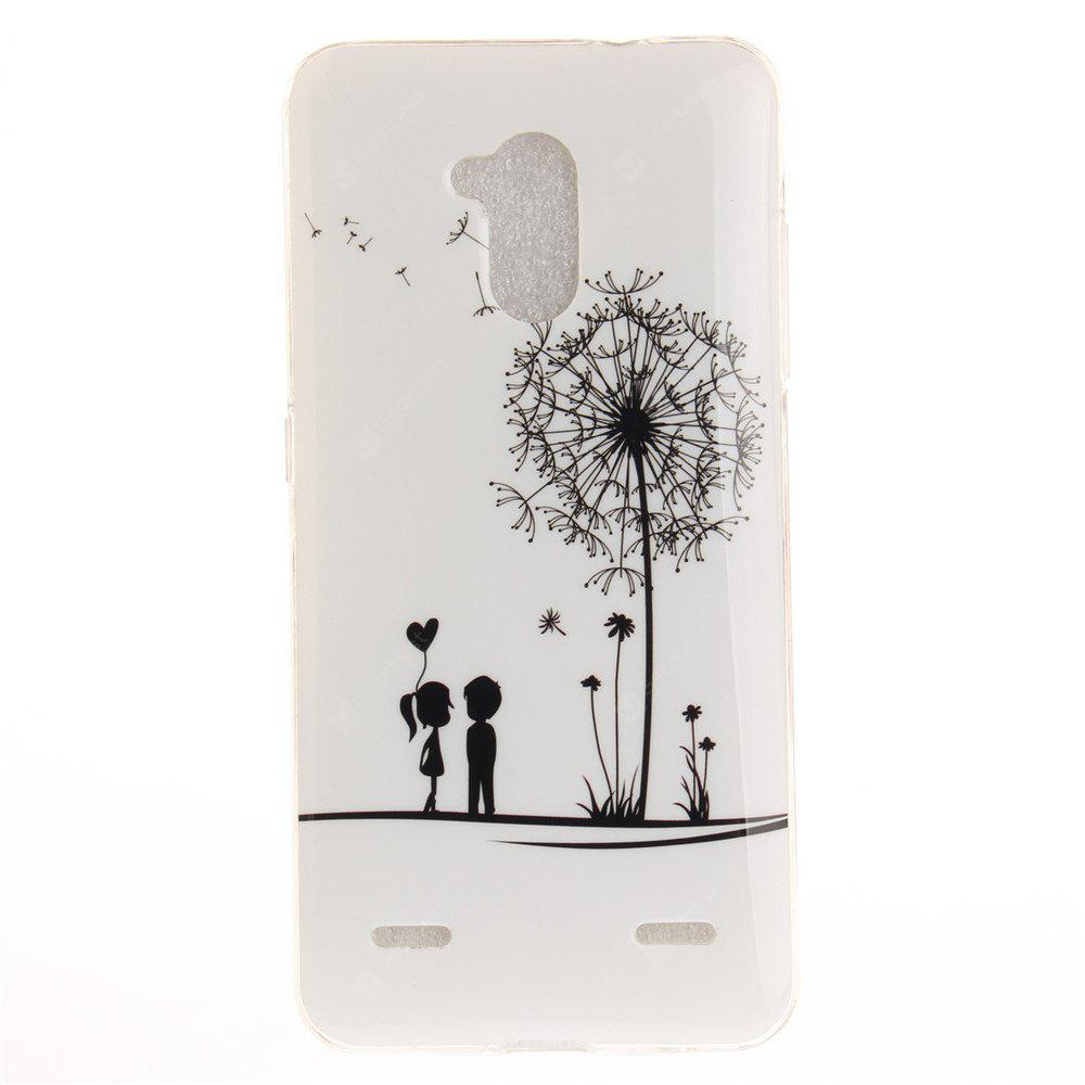 Dandelion Pattern Soft Clear IMD TPU Phone Casing Mobile Smartphone Cover Shell Case for ZTE Blade V7 Lite