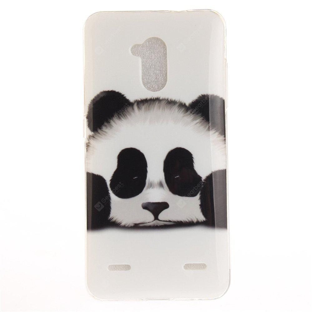 Panda Soft Clear IMD TPU Phone Casing Estojo de capa móvel Smart Shell para ZTE Blade V7 Lite