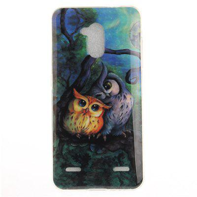Oil Painting Owl Soft Clear IMD TPU Phone Casing Mobile Smartphone Cover Shell Case for ZTE Blade V7 Lite