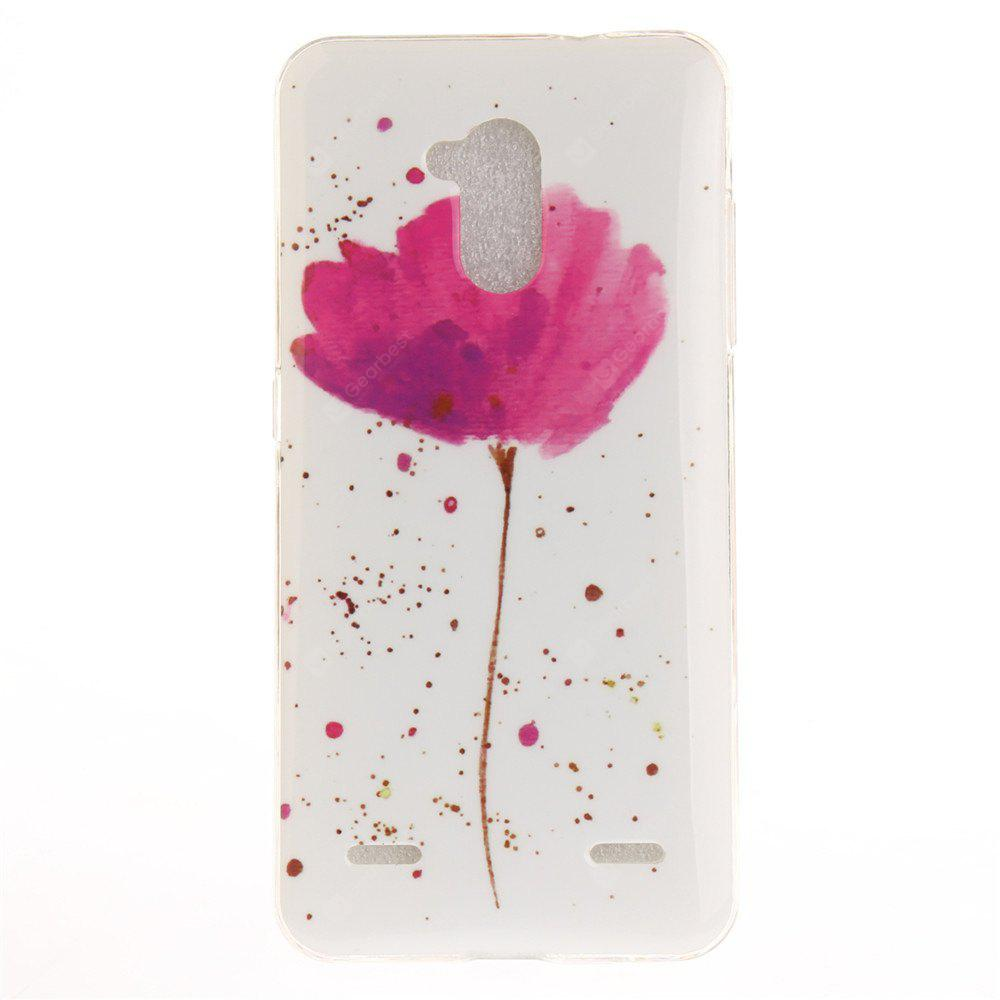Song For Orchid Soft Clear IMD TPU Phone Casing Mobile Smartphone Cover Shell Case for ZTE Blade V7 Lite