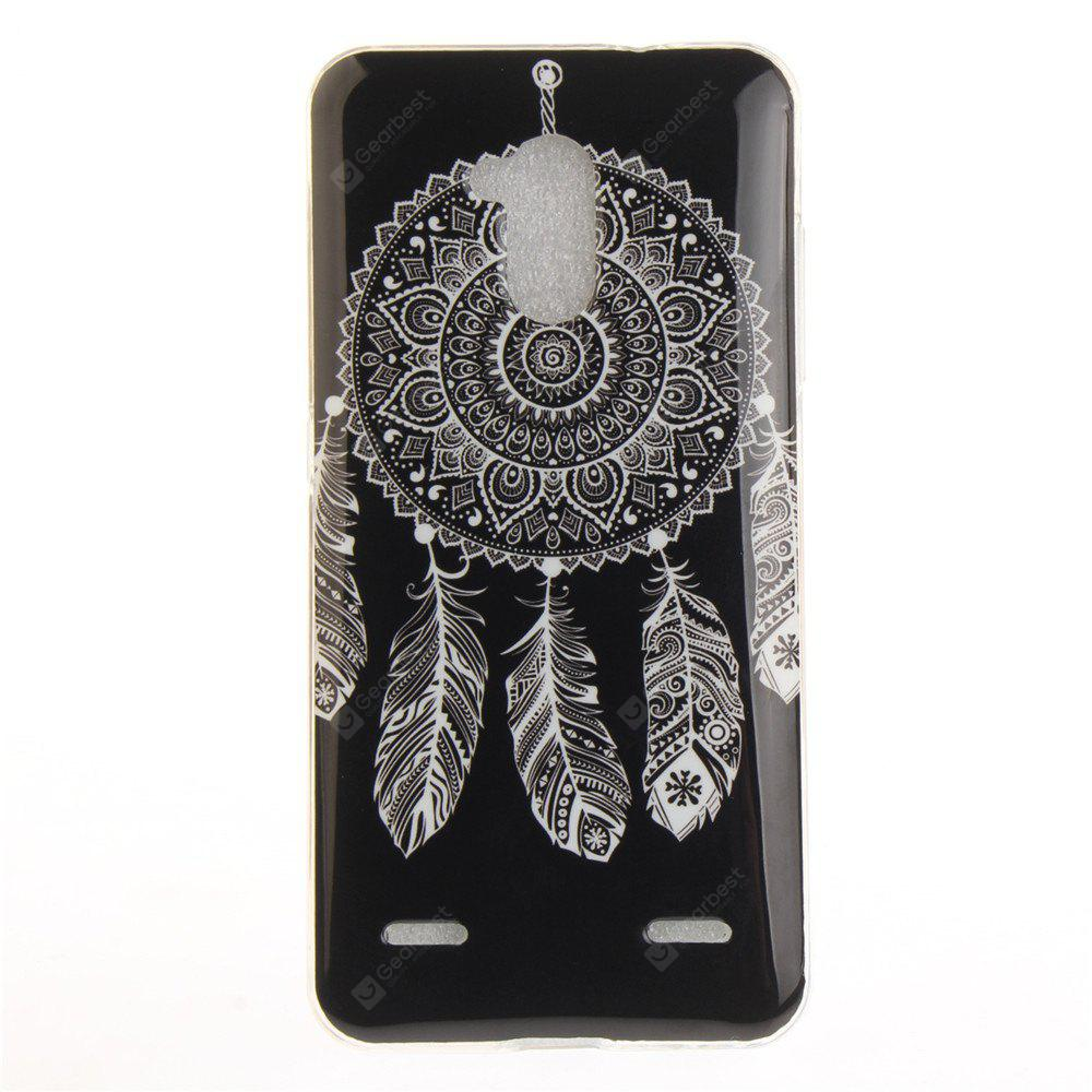 Black Wind Chimes Soft Clear IMD TPU Phone Casing Mobile Smartphone Cover Shell Case for ZTE Blade V7 Lite