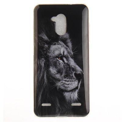 Black Lion Soft Clear IMD TPU Phone Casing Mobile Smartphone Cover Shell Case for ZTE Blade V7 Lite