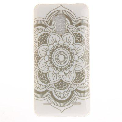 Big White Flower Soft Clear IMD TPU Phone Casing Mobile Smartphone Cover Shell Case for ZTE Blade V7 Lite