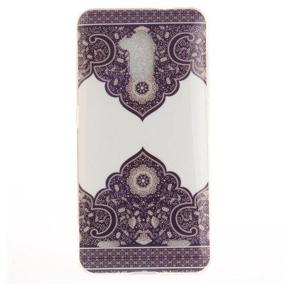 Diagonal Totem Soft Clear IMD TPU Phone Casing Mobile Smartphone Cover Shell Case for ZTE Blade V7 Lite