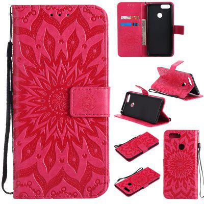 Sun Flower Printing Design Pu Leather Flip Wallet Lanyard Protective Case for Huawei Honor 7X