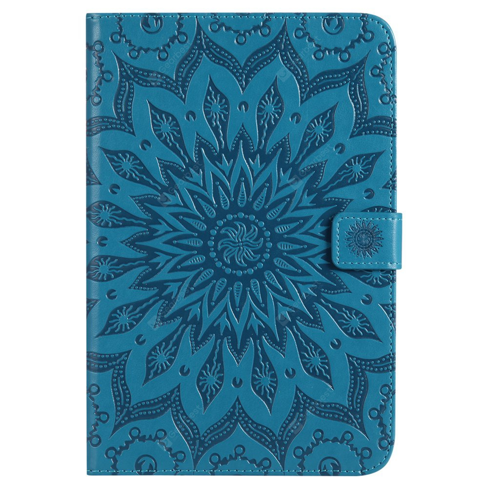 Sun Flower Printing Design Pu Leather Flip Wallet Lanyard Protective Case for iPad Mini 4