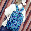 Moda Hongjing Correspondência Color Casual Sporting Backpack - AZUL