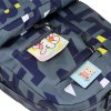 HongJing Fashion Matching Color Large Space Backpack - AZUL ESCURO