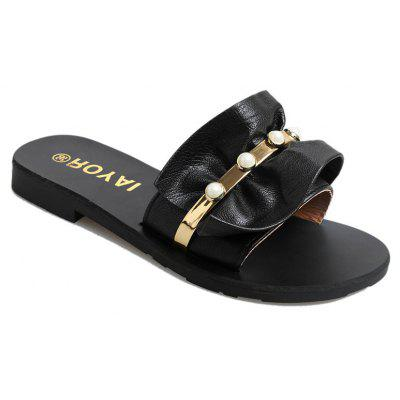ZLL-C28 Indoor Fashion All-match Flat Wear Slippers