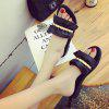 ZLL-C28 Indoor Fashion All-match Flat Wear Slippers - BLACK