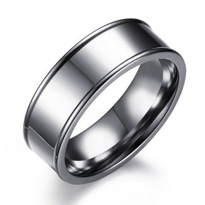 Titanium Steel Ring New Simple Concave Type Men's Ring Stainless Jewelry