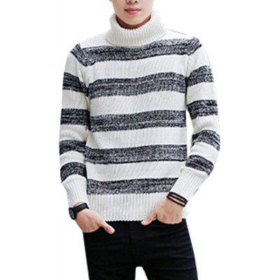 Pull à capuche pour hommes Comfy Striped Chic Casual All Tricots