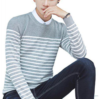 Pull pour hommes Comfy Striped Casual Casual Tricots