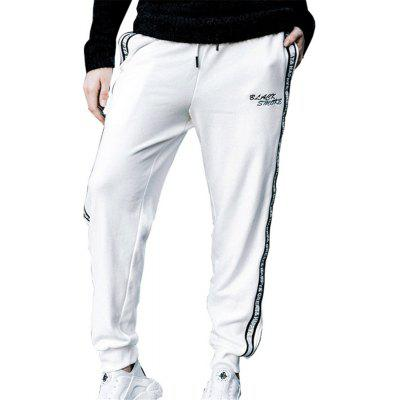 Men's Casual Pants Comfy Drawstring Fashion Color Block All Match Pants