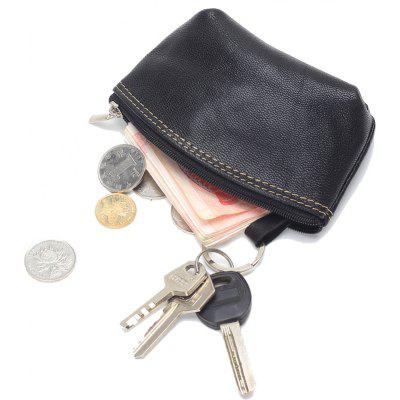 Buy Women small Wallet Genuine Leather High Quality Zipper Mini Coin Purse 100% Cowhide Female Casual Coin Holder Purses BLACK for $9.67 in GearBest store