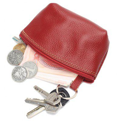 Women small Wallet Genuine Leather High Quality Zipper Mini Coin Purse 100% Cowhide Female Casual Coin Holder Purses