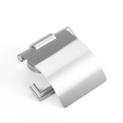 Stainless Steel Bathroom Toilet Paper Holder Punched Case With a Cover Brushed