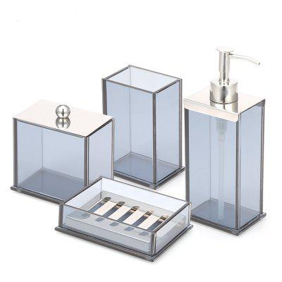 Bathroom Accessories Set Soap Lotion Toothbrush Cotton Box 4 pcs