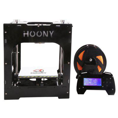 HOONY H2 The New Guide Rail Runs 3D Mini Printer with The Small Size and High Precision and Quick Print