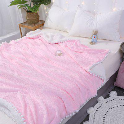 New Love Pattern Lamb Velvet Casual Blanket