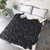 The Constellation Pattern is Super Soft Double Layer Thick Lamb Wool Blanket - BLACK