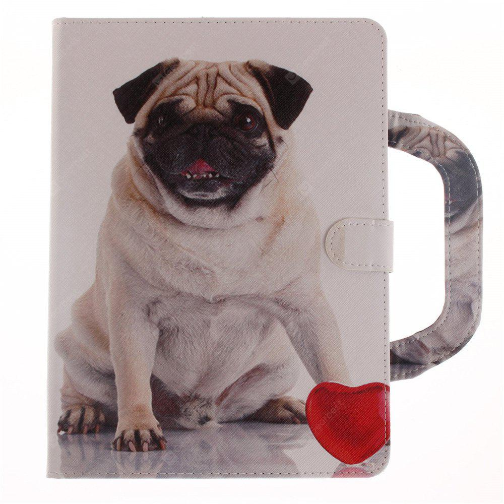Leather Protective Case Dog Pattern with A Hand for iPad Mini 4
