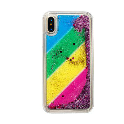 Custodia Quicksand modello Rainbow per iPhone X