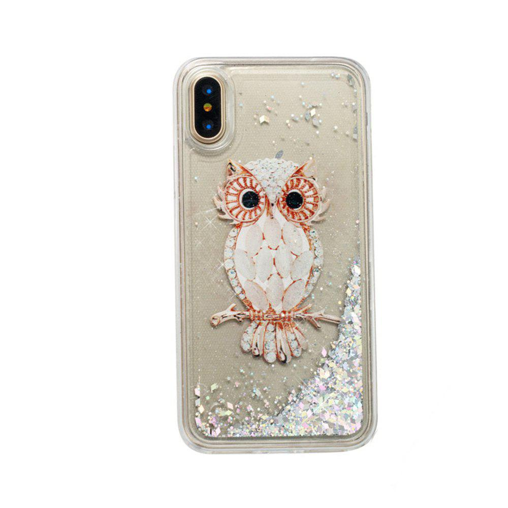 Owl Pattern Quicksand Case for iPhone X