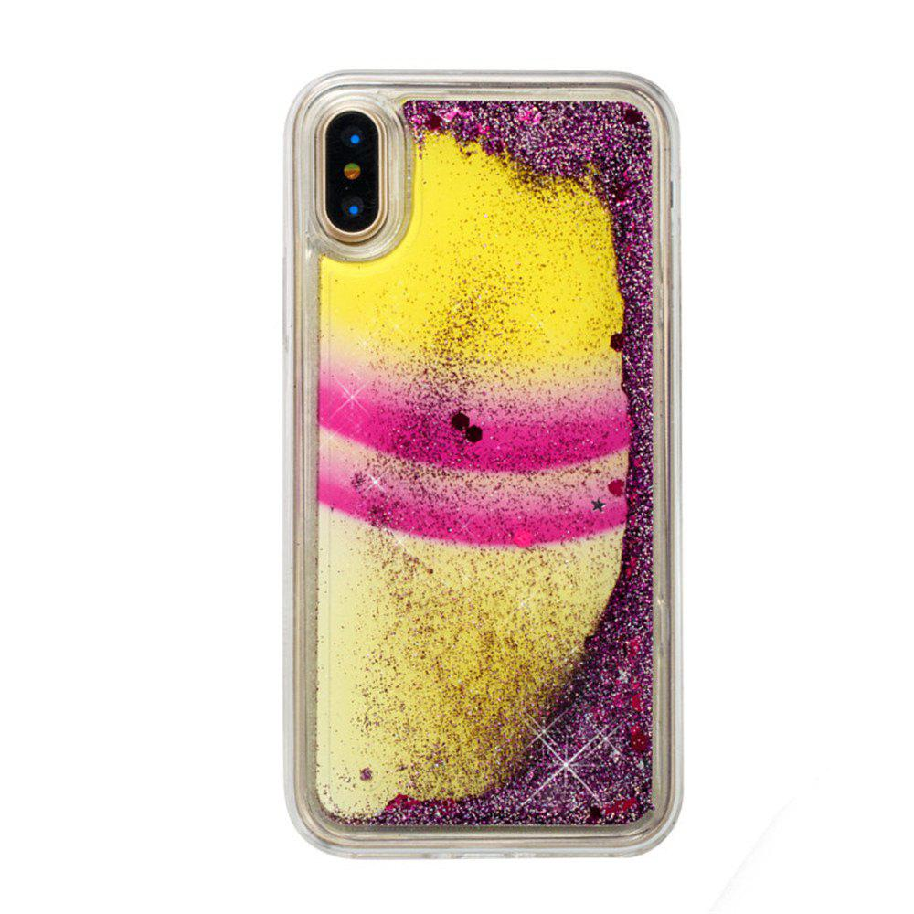Color Pattern Quicksand Case for iPhone X