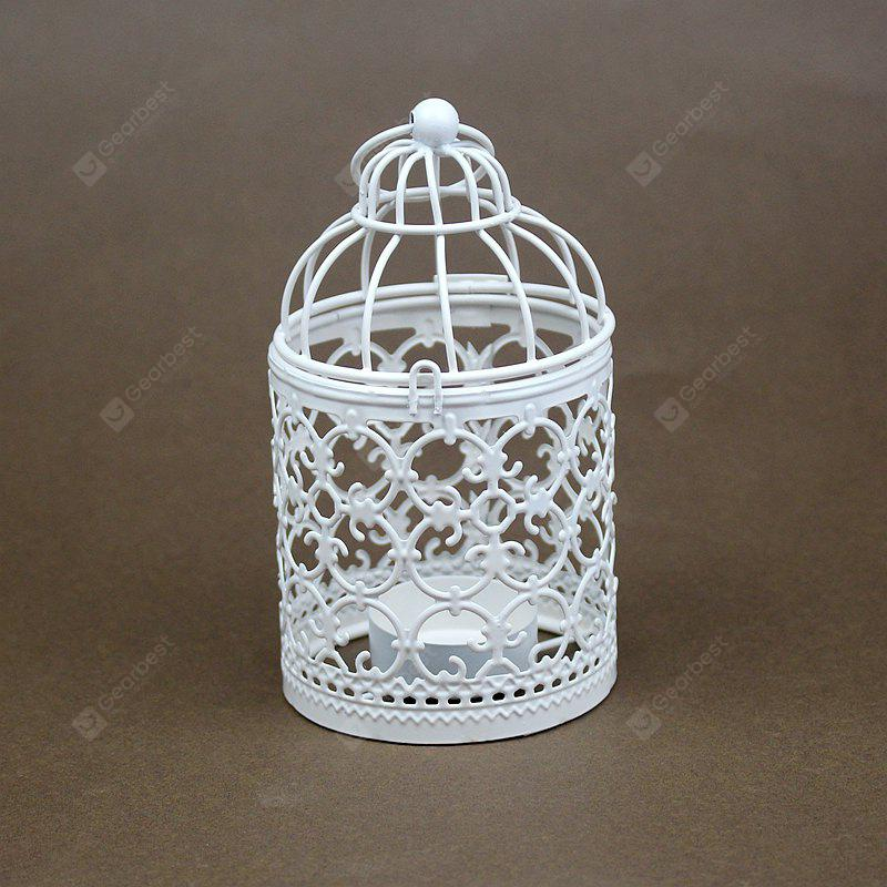 Zakka Hollow Out Flowers Cage Candlesticks Ou Wrought Iron Candlestick