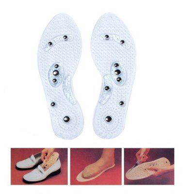 1PAIR Shoe Gel Insoles Relaxation Magnetic Massage Health Care Foot Pads