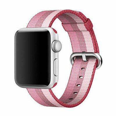 Buy 38MM Woven Nylon Strap Band for Apple Watch Band Wrist Bracelet Watchband for Iwatch Band 1 2 3 Watch Accessories, PINK + WHITE, Consumer Electronics, Smart Watch Accessories for $9.99 in GearBest store