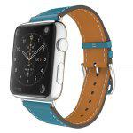 Gearbest For Apple Watch Band Leather Blue Luxury Genuine Watchband Bracelet Replacement Wrist Band with Adapter Clasp for IWatch