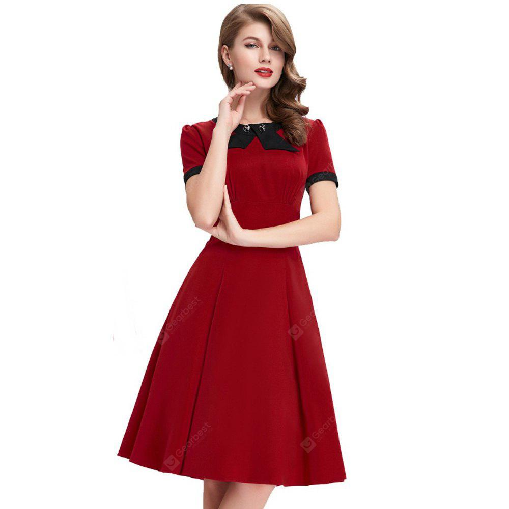 9cc523c4607f Scoop Neck Casual 1950 S Dress for Women
