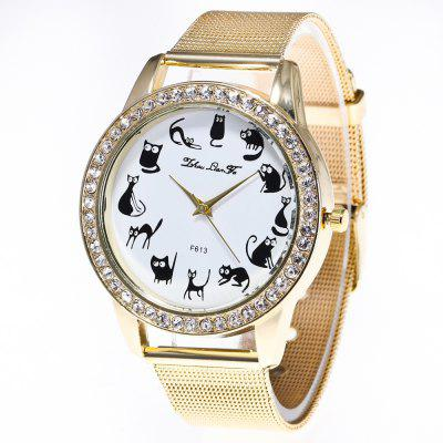 ZhouLianFa Luxury Fashion Network with Ladies Diamond Quartz Watch