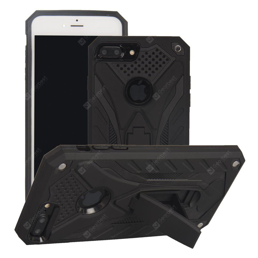 TPU + PC Full Coverage Hard Back Cover Stand Armor Phone Case for iPhone 8 Plus