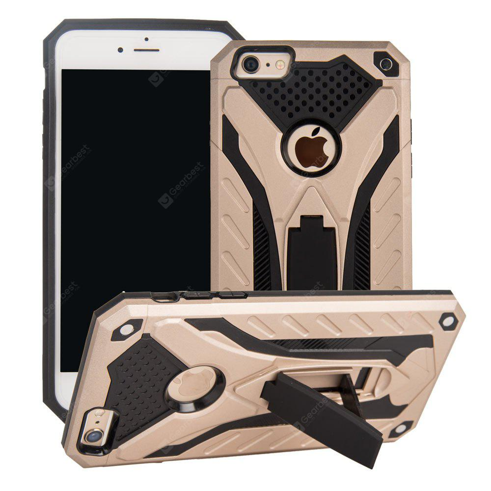 Deluxe Knight PC + TPU Case Support Holder Stand Mobile Phone Cases for iPhone 6 Plus / 6s Plus