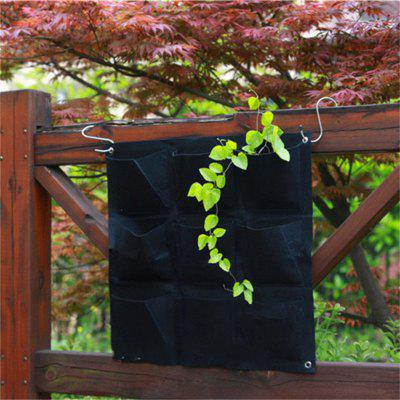 Buy Large 9 Pockets Hanging Flower Pot Polyester Wall-Mounted Vertical Gardening Flower Pot Planting Bag Living Indoor Wall BLACK for $22.31 in GearBest store