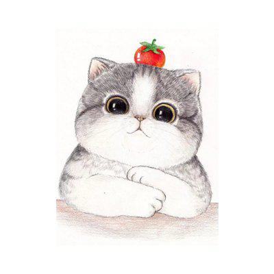 Naiyue S208 Motivational Cat Print Draw Diamond Drawing
